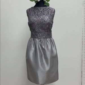 Short formal platinum dress